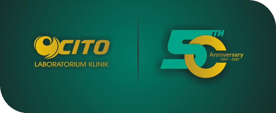 Logo 50th Anniversary Laboratorium Klinik CITO