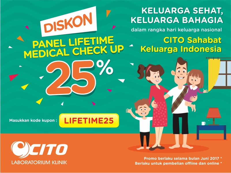 POTONGAN 25 % LIFETIME MEDICAL CHECK UP