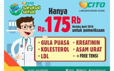 Cito Sahabat Sehat, Promo Panel Medical Check Up Hemat hadir di Bulan April