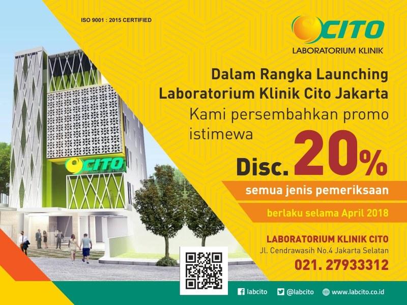 Laboratorium Klinik Cito Jakarta pindah ke Lokasi Baru