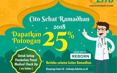 Cito Sehat Ramadhan, Potongan 25 % untuk semua Panel Medical Check Up via Web Belanja