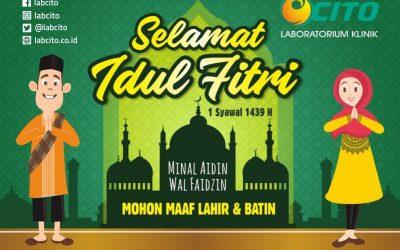 Selamat Hari Raya Idul Fitri 1439 H. Mohon Maaf Lahir & Batin
