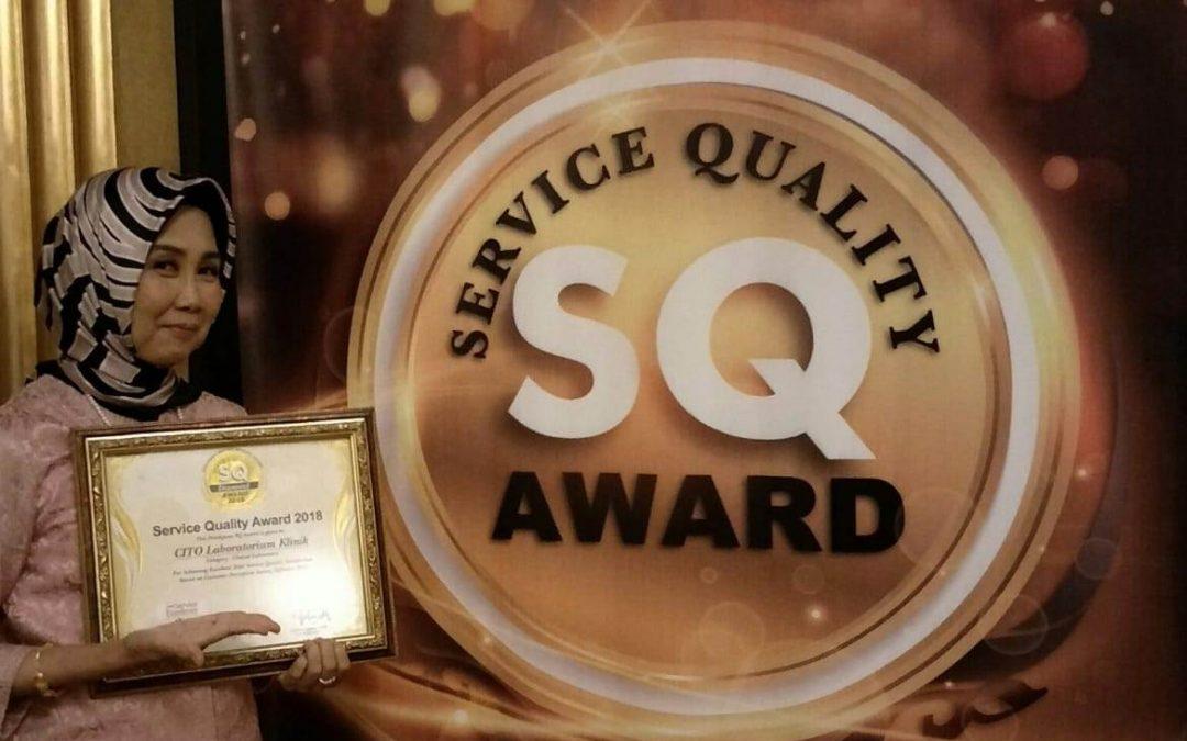 SQ Award 2018 menjadi prestasi bagi Laboratorium Klinik Cito