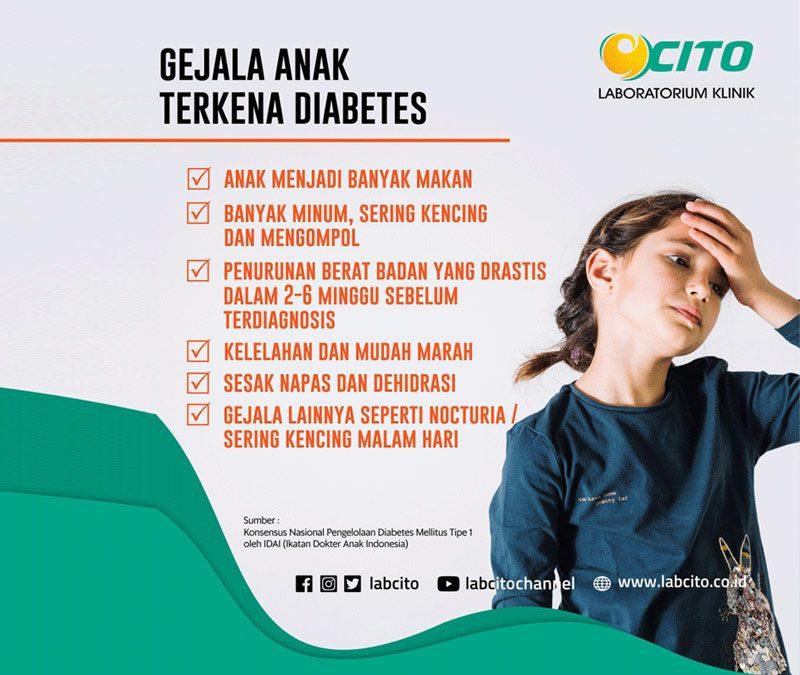 Gejala Diabetes Melitus Pada Anak Yang Perlu Diwaspadai