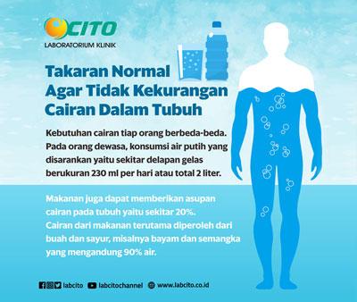 Takaran Normal Konsumsi Air Agar Tidak Kekurangan Cairan Tubuh dan Dehidrasi