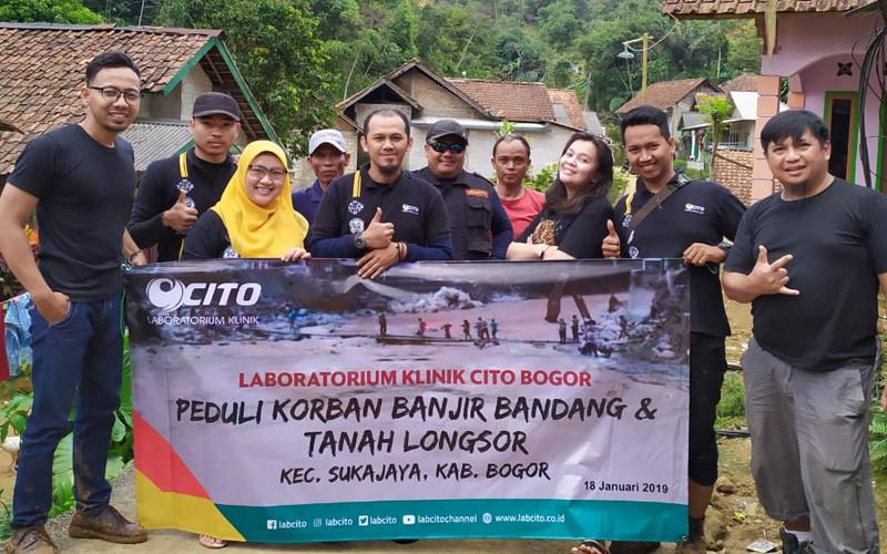 Bantuan Untuk Korban Bencana Banjir dan Tanah Longsor di Kabupaten Bogor dari Laboratorium Klinik CITO