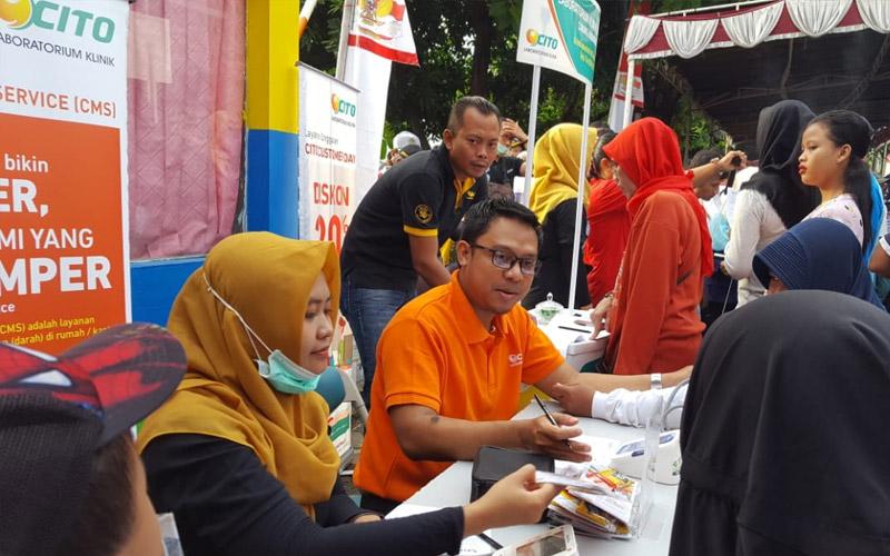 Laboratorium Klinik CITO Memberikan Screening Kesehatan Bagi Warga Kelurahan Pandean Lamper Kota Semarang