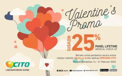 Spesial Promo Valentine, Manfaatkan Diskon 25% Pembelian Panel Lifetime Medical Check Up