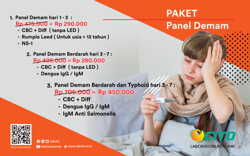 Promo Panel Demam Untuk Pemeriksaan Demam Berdarah Dengue