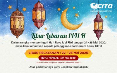 Jadwal Libur Pelayanan Laboratorium Klinik CITO Selama Lebaran 1441 H