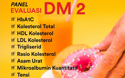Paket Pemeriksaan Evaluasi Diabetes Melitus 2