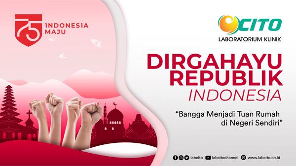 Selamat Hari Ulang Tahun ke-75 Kemerdekaan Republik Indonesia Tahun 2020