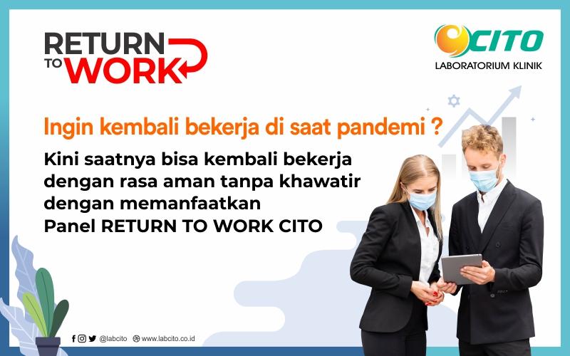 Paket Pemeriksaan Return to Work Bagi Pekerja